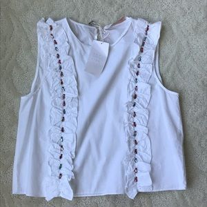 Zara tank top with colorful beading